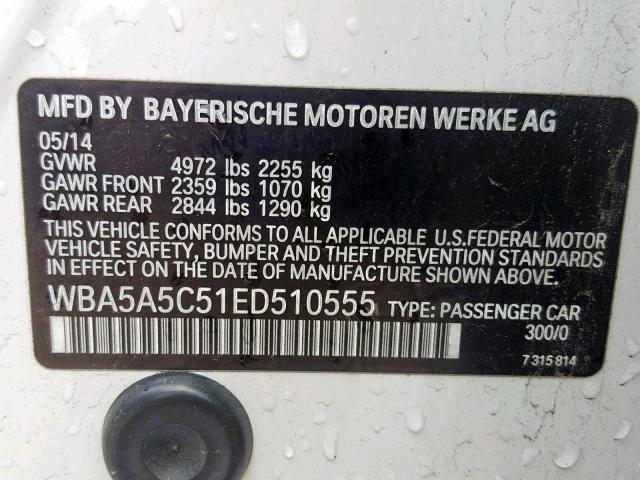 2014 BMW 528 I — продано