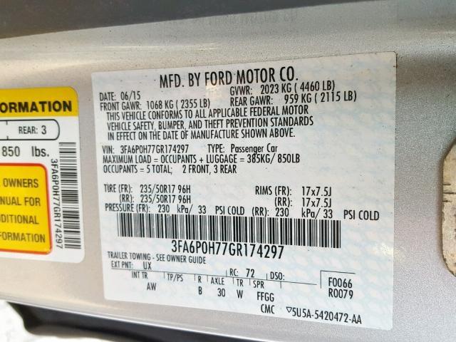 2016 FORD FUSION — продано!
